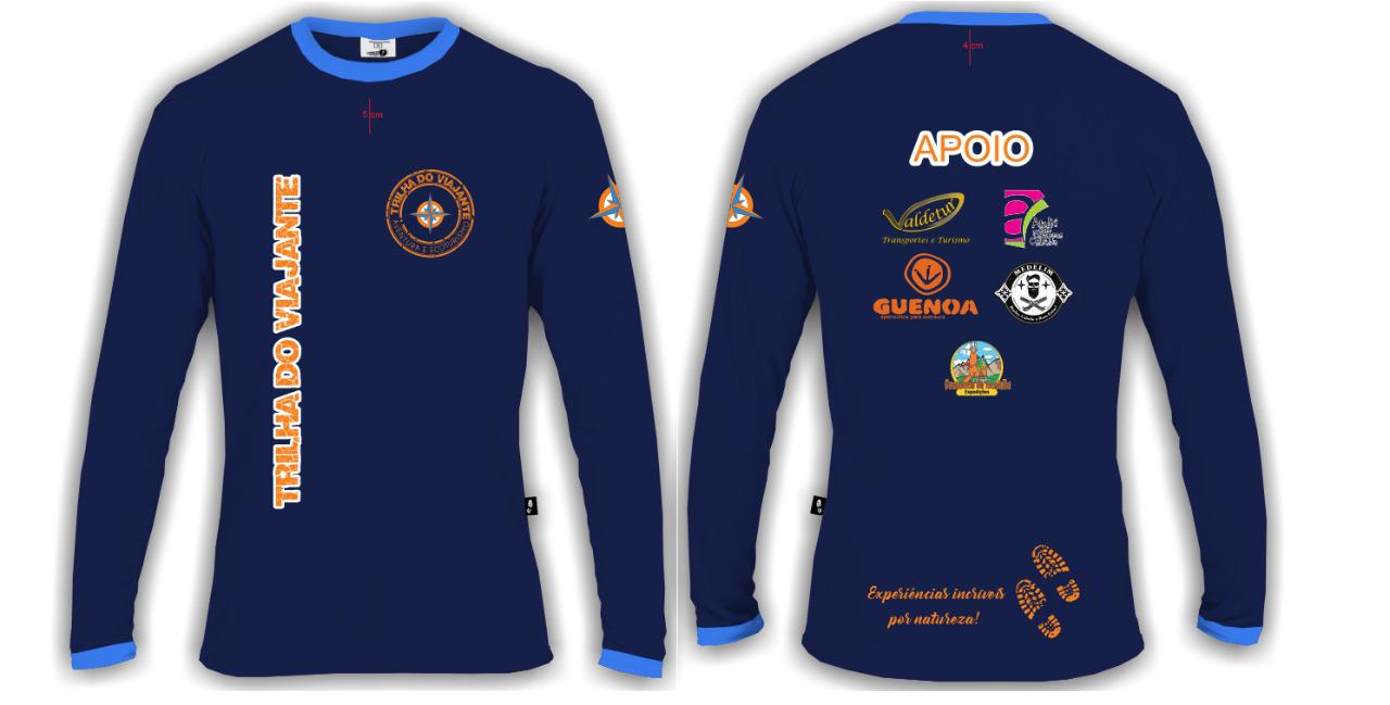 camiseta oficial manga longa azul