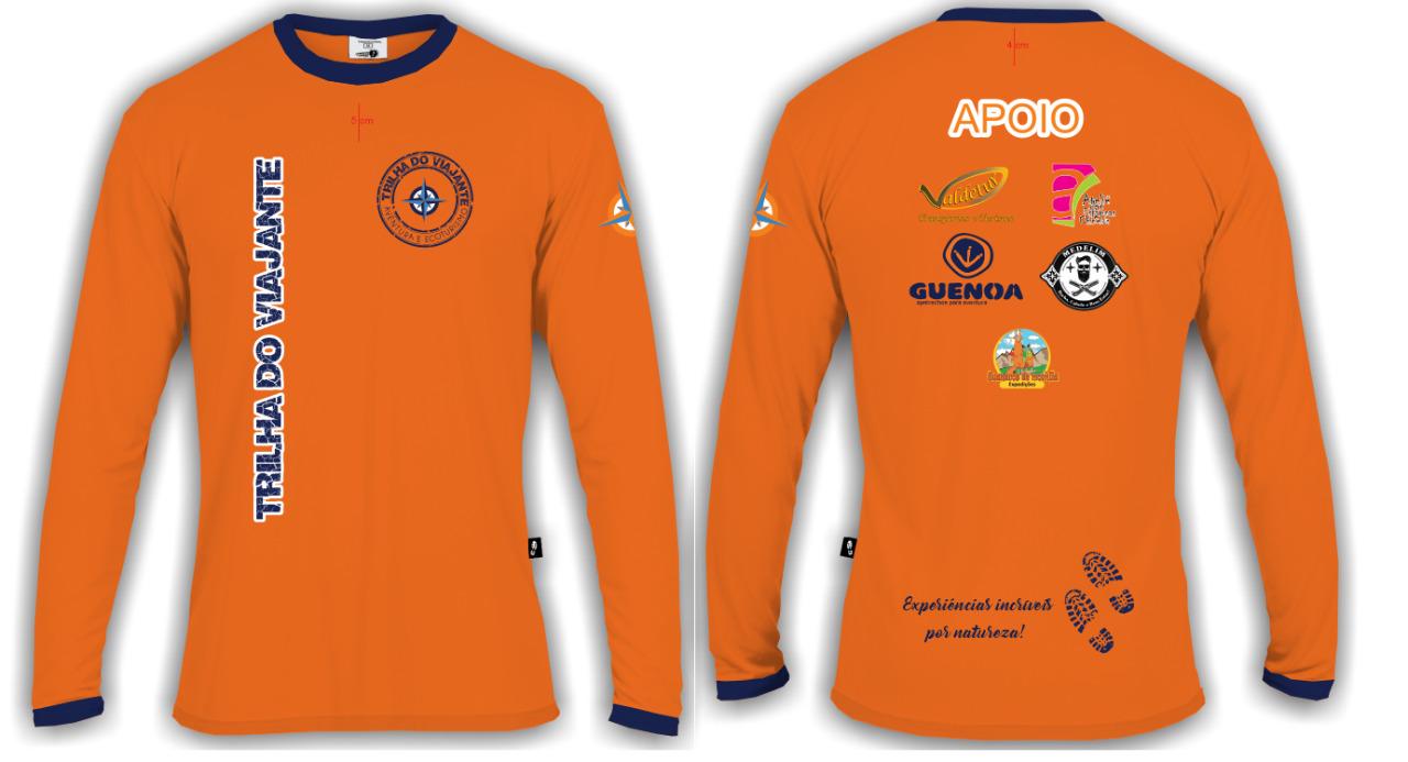 camiseta oficial manga longa laranja
